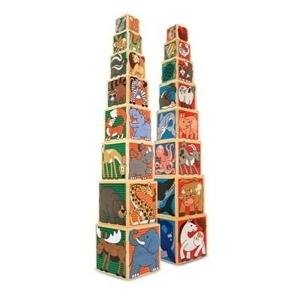 кубики из дерева животные мелисса даг