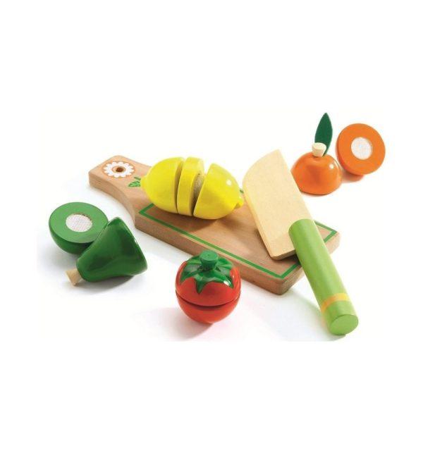 игровой набор продуктов фрукты на липучке djeco