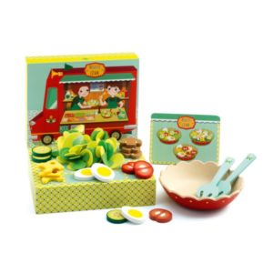 игровой набор еды салаты розет и цезарь djeco