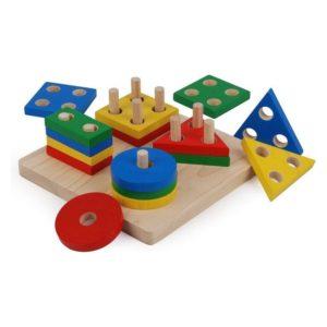 доска сортер геометрик plan toys