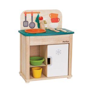 дет кий набор кухня с холодильником plan toys