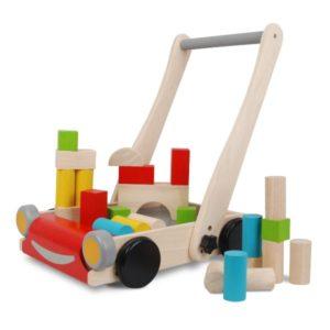 тележка с деревянными блоками деревянный набор дом на дереве plan toys