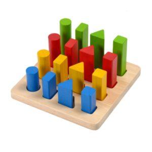 деревянный геометрический сортер деревянный набор дом на дереве plan toys