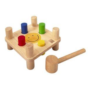 деревянная забивалка молоточком деревянный набор дом на дереве plan toys