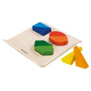 рамка вкладыш геометрик plan toys