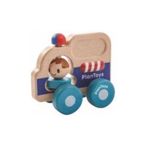 деревянная полицейская машина plan toys