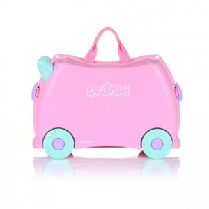 детский чемодан розовый