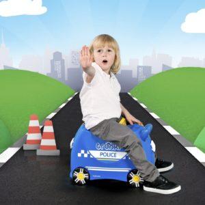 детский чемодан полиция