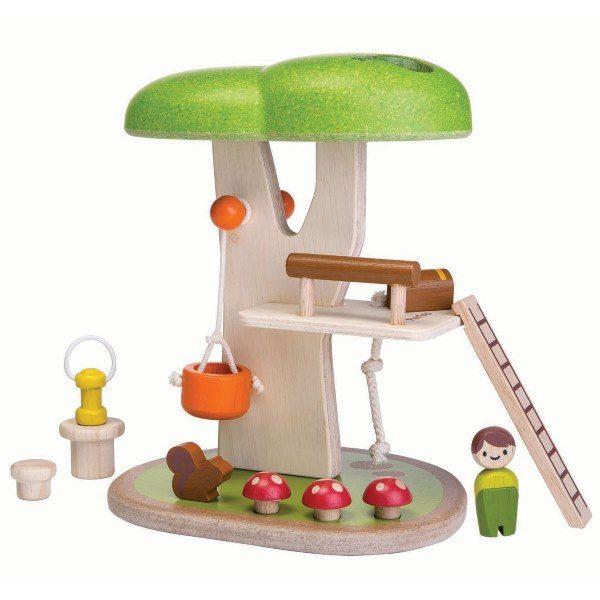 деревянный набор дом на дереве plan toys