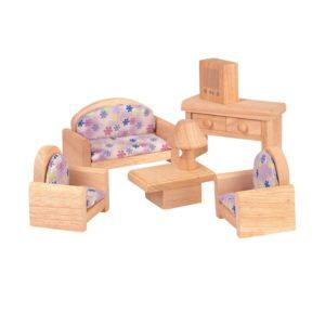 мебель для гостиной деревянный набор дом на дереве plan toys