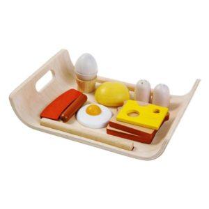 деревянный игровой набор завтрак Plan toys
