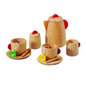 деревянный набор чаепитие plan toys