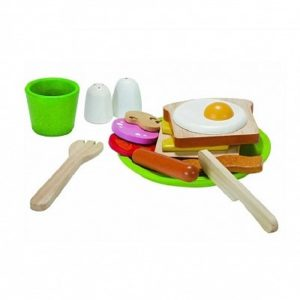 игровой набор завтрак деревянный plan toys