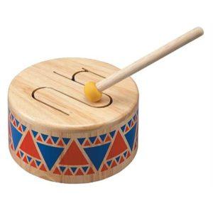 деревянный барабан plan toys