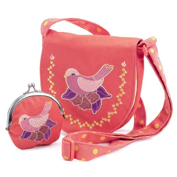сумочка с кошельком птичка djeco